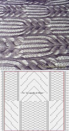 The photos published by Les aiguilles de Mamet - Les aiguilles de MametKnitting Patterns Stitches Photos published by Mamet's Needles – Mamet's NeedlesAnother veil or light shawl pattern stitchDiscover thousands of images about vartotojo įkelta nu Lace Knitting Stitches, Lace Knitting Patterns, Knitting Charts, Lace Patterns, Baby Knitting, Stitch Patterns, Knitting Ideas, Knitting Needles, Knitting Yarn