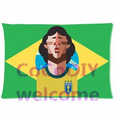 Brazilian Coach Former Footballer Zico Arthur Antunes Coimbra Sports Star Custom Pillowcase Standard Size One side Free Ship