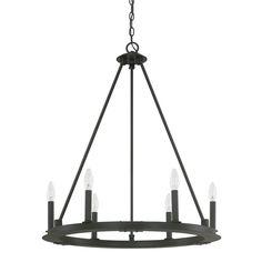 Capital Lighting Pearson Collection 6-light Black Iron Chandelier (Metal)