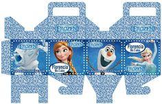 Patrones de cajas imprimibles de Frozen