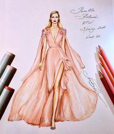 - Fashion Illustrations by Natalia Zorin Liu Dress Design Sketches, Fashion Design Sketchbook, Fashion Design Drawings, Fashion Sketches, Art Sketchbook, Fashion Drawing Dresses, Fashion Illustration Dresses, Fashion Illustrations, Drawing Fashion