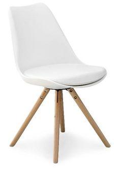 Köp - 495 kr! Shello stol - Vit/Ek - Matstol. Shello tillhör vår populära serie med fräckt designade produkter till