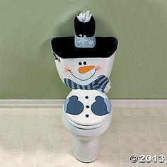 Snowman Toilet Cover Set