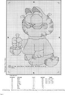 ♥Meus Gráficos De Ponto Cruz♥: Garfield