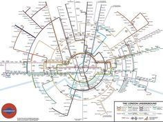 A circular tube map.   17 London Underground Maps You Never Knew You Needed