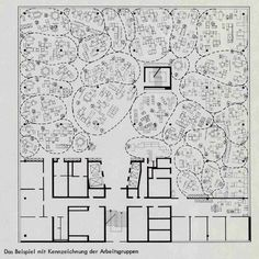 Quickborner's plan for Osram's Munich office, 1965
