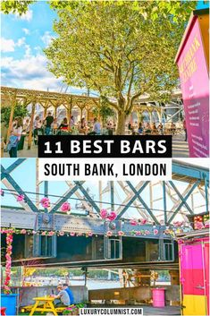 11 of the best bars on the South Bank London from pop ups to stylish cocktail lounges with great River Thames views | #London | #UK | #EuropeanTravel | #TravelTips New Travel, London Travel, Travel Guides, Travel Tips, Scotland Travel, Ireland Travel, London England, England Uk, Things To Do In London