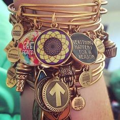 Love this stack of Alex and Ani!