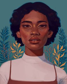 digital portrait Beautiful Bizarre Magazine Her intense look and the ravishing colors really. Art And Illustration, Portrait Illustration, Character Illustration, Animal Illustrations, Portrait Vector, Digital Portrait, Portrait Art, Digital Art, Digital Paintings