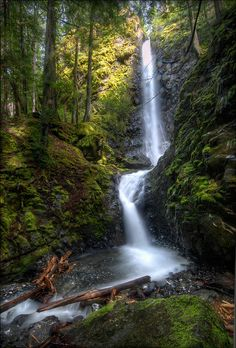 Lupin Falls - Strathcona Park, Canada Slightly better than mine Diederichs Beautiful World, Beautiful Places, Park Photos, Beautiful Waterfalls, Belleza Natural, Vancouver Island, Island Life, Nature Pictures, Amazing Nature