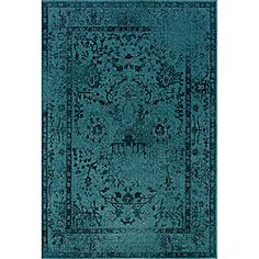 @Overstock - With the popular, modern washed style, this teal grey area rug is bright enough to add color to any room of your house. With a more muted color pattern, this rug is fashioned in an Eastern style that looks great with any style of furniture.http://www.overstock.com/Home-Garden/Teal-Grey-Area-Rug-5-x-76/6650176/product.html?CID=214117 $139.99
