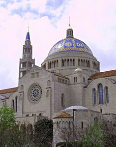 Basilica of the National Shrine of the Immaculate Conception, Washington, DC Old Catholic Church, Catholic Churches, Religious Architecture, Church Architecture, Ecuador, Our Lady Of America, Chile, Lighthouse Pictures, Washington Dc Travel