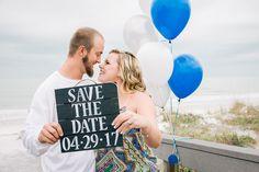 Sweet Beach Engagement Photos in FL | Mir Salgado Photography | Sunset Beach Pavillion | Reverie Gallery Wedding Blog