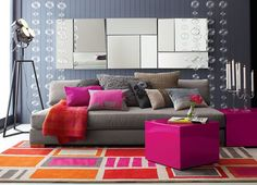 <3 <3 <3 - From the CB2 2012 catalog via decoist - Living Room Paint Ideas: Find Your Home's True Colors