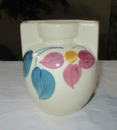 6 inch Purinton Pottery SLIP WARE Vase Hand Painted by CRCRUMSEY