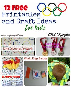 12 FREE Printables and Craft Ideas for Kids for the Olympic Games