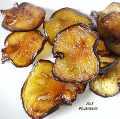 chips-de-légumes-au-four. Healthy Breakfast Recipes, Healthy Snacks, Vegetarian Recipes, Chips D'aubergine, Fingers Food, Antipasto, Creative Food, Cooking Time, Love Food