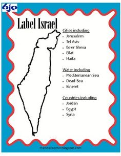 This Israel Activities Pack includes a map for students to label, an activity involving map directions, suggestions for including instruction about...