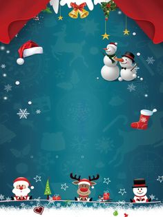 Christmas Doodles, Christmas Cartoons, Christmas Icons, Christmas Hat, Christmas Colors, Christmas Themes, Snowman Wallpaper, Cute Christmas Wallpaper, Red Background Images