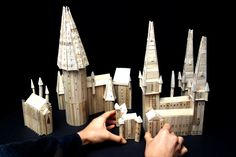 DIY Hogwarts Castle made from popsicle sticks!! brilliant!! #hp #crafts