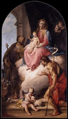 ZUGNO Francesco (Venezia 1708 - 1787) - Virgin and Child with Saints #TuscanyAgriturismoGiratola