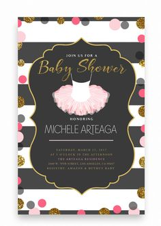 40 best cheap baby shower invitation images on pinterest beautiful pink tutu baby shower invitationtutu baby shower invitation glitter tutu invitation pink filmwisefo