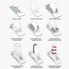 Architecture Concept Diagram, Pavilion Architecture, Architecture Portfolio, Architecture Design, Drawing Architecture, Architecture Diagrams, Design Thinking Process, Building Concept, Tower Building
