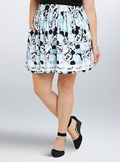 453147eaaf3cb Plus Size Disney Mickey Minnie Collection Mickey Shirred Skirt