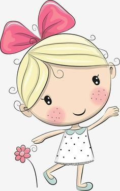 Art Drawings For Kids, Drawing For Kids, Cartoon Drawings, Easy Drawings, Art For Kids, Cute Cartoon Girl, Cartoon Kids, Doodle Art, Cartoon Mignon
