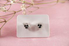 Epoxy resin stud earrings real flowers seeds black seeds in | Etsy
