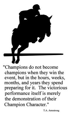 HorseChampions English Horse Quote 2Horse by Artistryofthehorse, $34.00