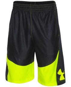 Cut with a relaxed loose fit, these basketball shorts from Under Armour are made with strategically-placed mesh panels for enhanced breathability. | Polyester | Machine washable | Imported | Elastic w