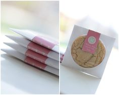 Cookie favors in CD envelopes, super cute and easy