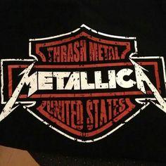 Metallica as a harley Davidson logo Metallica Tattoo, Metallica Art, Heavy Metal Art, Heavy Metal Bands, Hard Rock, Image Club, Rock Band Logos, Thrash Metal, Concert Posters