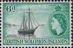 Solomon Island 1956 SG 89 Training Schooner Fine Mint SG 89 Scott 96 Other Solomon Stamps HERE