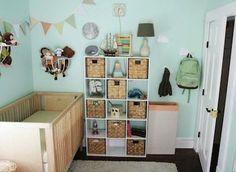 DI-Win: An Unbelievable Nursery Room Renovation Whimsical Nursery, Pastel Nursery, Baby Boy Rooms, Baby Boy Nurseries, Nursery Room, Girl Nursery, Nursery Ideas, Stuffed Animal Storage, Stuffed Animals