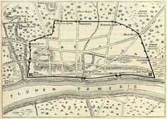 Print  Roman Map Of London England Circa (Cartography Replica Poster) & Garden Uk History, London History, British History, Ancient History, London Map, Old London, London City, London Bridge, Vintage Maps