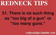Guns facts!!! Bebe'!!! Redneck Book of Knowledge!!!