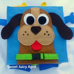 Die ruhigen Buchseite Hundehalsband Schnalle von SweetJuicyApril