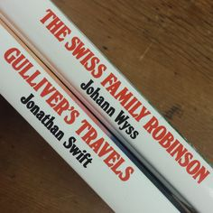 2 Book Set of Great Illustrated Classics ~ Swiss Family Robinson by Johann Wyss ~ Gulliver's Travels by Jonathan Swift ~ Shipwreck Adventure by FeeneyFinds on Etsy