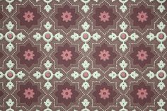 1940's Vintage Wallpaper  Yellow Burgundy and by HannahsTreasures