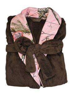 8bc31c9ce9 Realtree Pink Camo Robe Plush Womens Plus Size Bathrobe XXL 1X