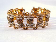Vintage Jewelry Damascene Bracelet Marked Spain by VintiqueJools, $22.00