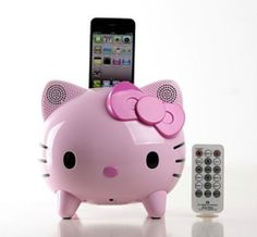 Hello Kitty Ipod Dock I am putting this on my Christmas list. Lol
