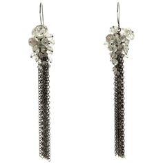 Kate Wood Jewellery Pearl and Oxidised Silver Waterfall Earrings 2Cd5b5