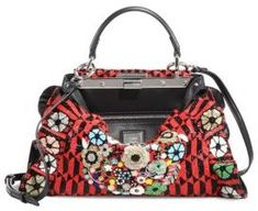 Fendi Peekaboo Mini Bead-Embroidered Handbag  fashion  pandafashion   satchel  fendi 715b68338da58