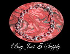 12  Silver Plated OVAL Link BRACELETS with Lobster Clasp For