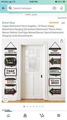 Happy Retirement, Retirement Parties, Party Themes, Mom, Birthday, Decor, Birthdays, Decoration, Decorating