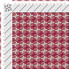 draft image: Figurierte Muster Pl. XXII Nr. 16, Die färbige Gewebemusterung, Franz Donat, 8S, 8T