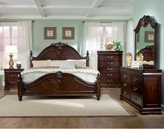 With tasteful French-style detailing, this classic Westchester bedroom set will bring an elegant touch to any bedroom. The intricate detailing adds a traditional and grand look to your bedroom and will blend seamlessly with many different décors. Constructed using solid, sturdy pine and finished in a lovely cherry colour, this beautiful set will last for years to come.